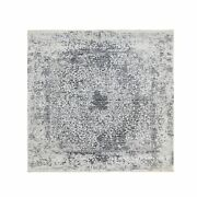6and0392x6and0392 Square Wool And Silk Hand Knotted Broken Design Fine Rug R58407