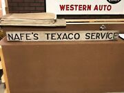 1930and039s Original Vintage Nafeand039s Texaco Service Station Sign Old Gas Oil Indiana