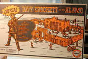 Box Only For Marx Davy Crockett At The Alamo Playset No.3534r