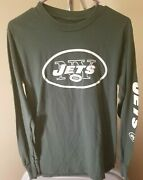 New York Jets Nfl Classic Green Team Logo Youth Small Long Sleeve Shirt
