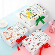 Holidays Present Boxes With Ribbon Christmas Decoration Paperboard Materials New