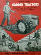 David Bradley Garden Tractor Sales Owner Engine Parts And Service 5 Manual S