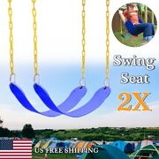 2x Swing Seat Set Accessories Replacement Swings Slides Playground Outdoor Blue