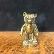 Vintage Antique Brass 2 Figurine Rupert The English Teddy Bear Statue