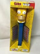 2002 Giant Pez Talking Homer Simpson Candy Dispenser 12 Tall Extra Large