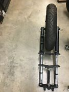 Buell Blast Front Fork Assembly With Fork Brace And Wheel/tire