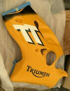 New Triumph Fairing,side,lh,pntd Racing Yellow Part T2304620-fa