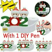 2021 Christmas Hanging Ornaments Personalized Name Family With A Free Diy Pen