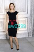 12a 8.4k Most Wanted Fringed Wool/tulle Dress Red Belt Camellia 40 Mint