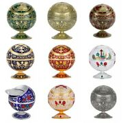 Ashtray Round Ball Home Hotel Club Storage Box Collectibles With Lid Decor New