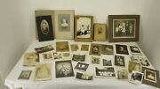 30 Antique Photographs Large And Small Victorian To 1930's Assorted Originals Bandw