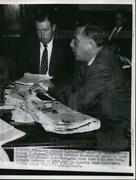 1954 Press Photo Nj Governor Robert Meyner And Attorney General Grover Richman