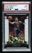 2018-19 Panini Select Concourse White Prizm /149 Trae Young 45 Psa 9 Rookie