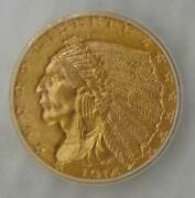 1914 D Gold 2.5 Indian Head Quarter Eagle Icg Ms 62 Beautiful Coin