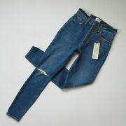 Nwt Ao.la By Alice + Olivia Good High Rise In Time Flys Stretch Jeans 24 195