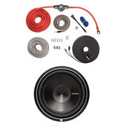 Rockford Fosgate 4 Awg Amplifier To Speaker Installation Kit And Subwoofer Package