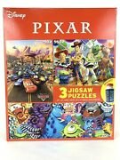 Disney Pixar Cars Toy Story Monster Inc Jigsaw Puzzle 3 Pack With Glue
