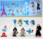 Kinder Surprise Set Smurfs Pitufos Puffi Ferrero Figures Cake Toppers +1 Papers