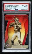 2017 Certified Gold Team Mirror Red /99 Patrick Mahomes Ii Gt-pm Psa 9 Rookie