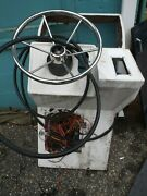 Boat Marine Center Console With Steering Wheel - Wellcraft - Used