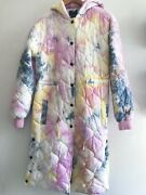 Urban Outfitters Uo Tie-dye Quilted Parka Small Nwt