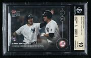 2016 Now Topps Online Exclusive /1893 Gary Sanchez 509-a Bgs 10 Pristine Rookie