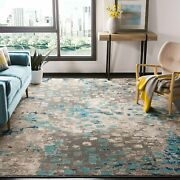 Safavieh Monaco Collection Mnc225e Modern Boho Abstract Watercolor Area Rug 8and039