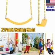 2x Swings Seat Outdoor Playground Swing Set Replacement Accessories For Kids Us