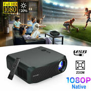 8500 Lumen Hd Native 1080p Projector 4k Video Proyector Movie Zoom Hdmi Usb Lcd
