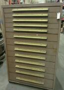 Equipto Cabinet 13 Drawers 37 X 27 X 60 46097dh