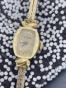 Vintage 1940s Lecoultre 14k Solid Gold Case Ladies Watch 17 Jewels Wind Up