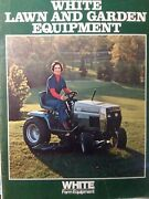 White Lawn Garden Tractor Riding Mower And Implement Sales Brochure Catalog Manual