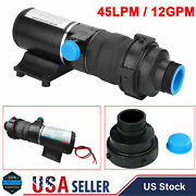 12v Rv Discharge Mount Macerator Waste Water Pump 45lpm 12gpm For Rv Marine Boat
