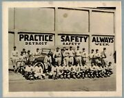 1919 Detroit Tigers Advertising Photo Oldsmobile Detroit Safety Week Ty Cobb