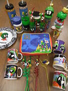Marvin The Martian Big Lot Coffee Crazy Straw Glass Plate Lunch Box Travel Cup