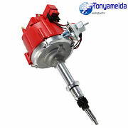 New Hei Distributor Fit For Gm 250 Chevy 292 230 Red Cap Complete 6 Cyl Inline