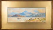 Edwin Earp 1851-1945 - Signed And Framed 1876 Watercolour Lazy Summer River