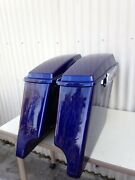Deep Cobalt Blue Stretch Saddlebags4 Inch Stretched Hardware 4 Harley Sold Out