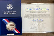 1993-s Proof Bill Of Rights Silver Half Dollar Coin