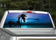 Beach Palm Trees 10 Tropical Sunset Rear Window Decal Graphic For Truck Suv