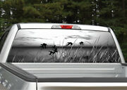 Ducks Flying Scenery Black And White Rear Window Decal Graphic For Truck Suv