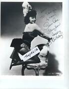 Sue Ane Langdon Beautiful Actress Cheese Cake 1960's Publicity Signed In Person