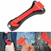 2pcs Car Safety Hammer With Carbide Tip Emergency Vehicle Escape Tool Belt Cutt