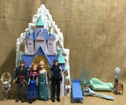 Disney Frozen Anna And Elsa 2 In 1 Castle And Ice Palace Playset Elsa Anna Olaf