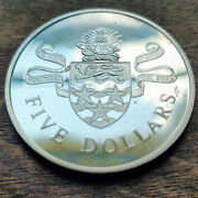 1979 Proof Silver Rare Cayman Island 2 Dollar Coin W Holder 40mm Sterling Silver