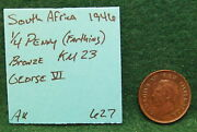 South Africa Coin Lot 1/4 Penny Farthing 1/2 Cent 2 5 Cents 1943 1946 1948 1955