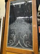 Etched Glass Door With Roses Art Nouveau Art Deco Style 90x28