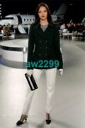 Most Wanted 08c Belted Runway Trench Coat Jacket 40 Navy Blue