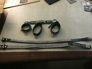 Leather Chokers Necklace Fetish Dog Collar Punk Gothic Rock Hot Topic Lot