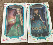 Disney Store 17 Limited Edition Frozen Fever Elsa And Anna Dolls New In Box Fedex